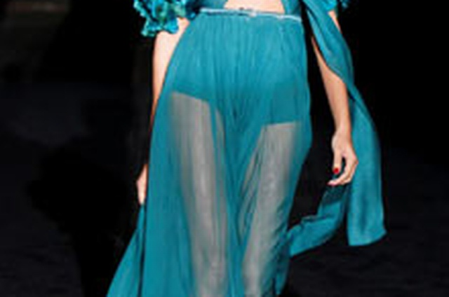 9f20358e40b This Gucci gown is a pleasure to wear, with its cool silk chiffon against  bare legs and the warm embrace of its exuberant floral collar