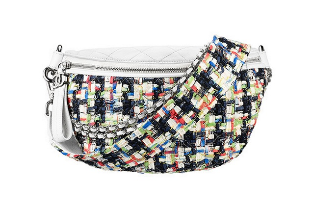 40326a61c73c Chanel Multi coloured tweed fanny pack