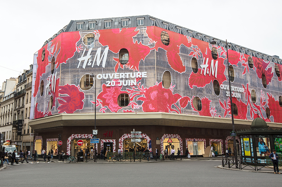 Inside the new H&M flagship on rue Lafayette in Paris