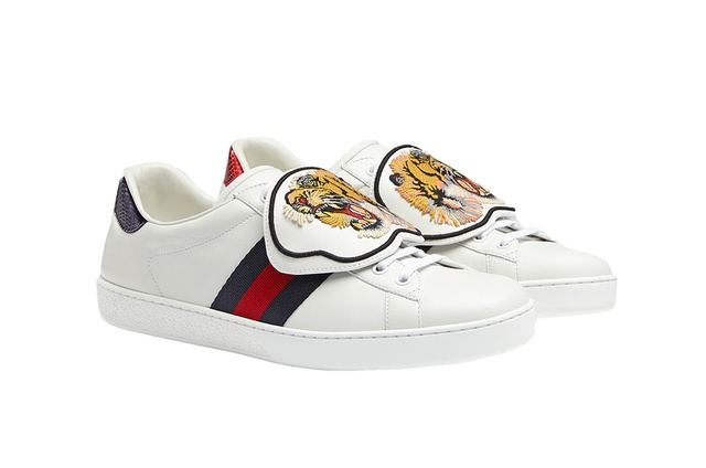 fec1768cf01 Gucci customisable Ace sneaker patches