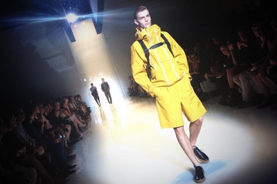@gucci: Modern athleticism on the SS '14 runway #gucciguys #mfw