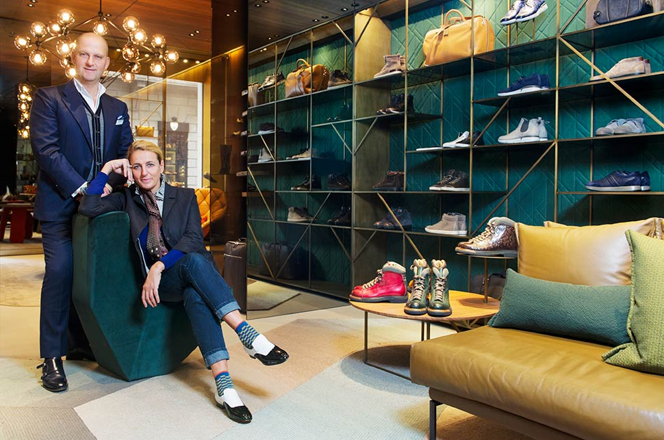3a1202d07e163 In store at Santoni   Global Blue