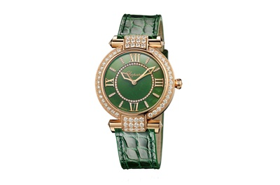 Chopard Imperiale 36mm watch in lucky Jade green