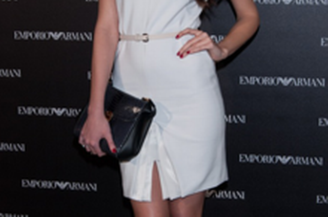 404105b11a963 Spanish model Clara Alonso, Emporio Armani launch party in Madrid