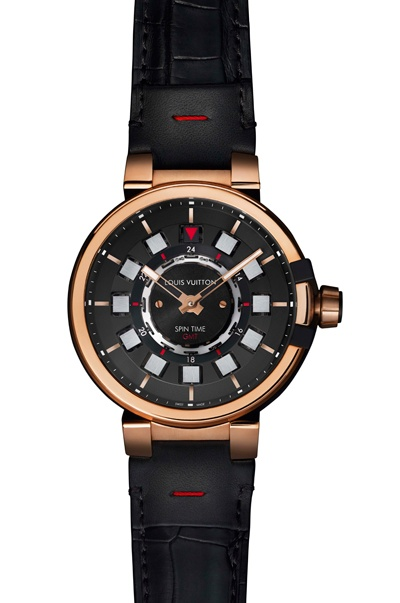 095f907e73dd Louis Vuitton men s Tambour Evolution Spin Time GMT watch