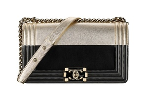 Chanel Two-tone leather clutch with a BOY Chanel lock