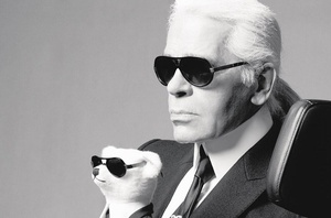 10 September 2013 : Karl Lagerfeld turns 80 today but his designs remain as young as ever. The kaiser of fashion poses here with a teddy bear he designed for German toy brand Steiff